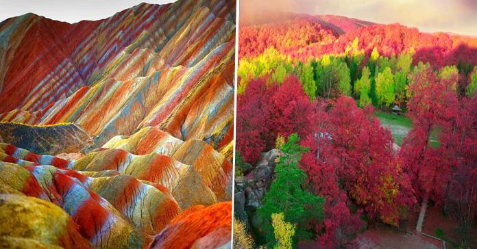 Lugares coloridos viajar