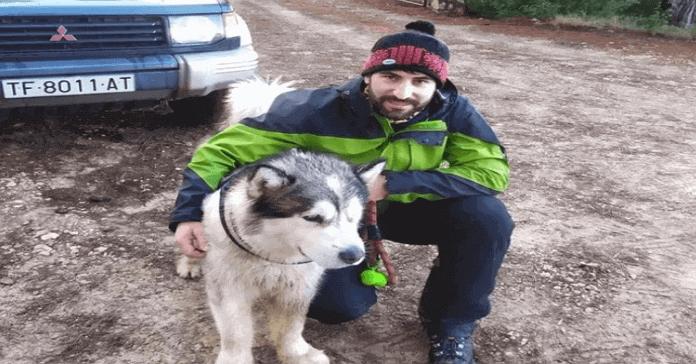 perro que sobrevivió al temporal Filomena